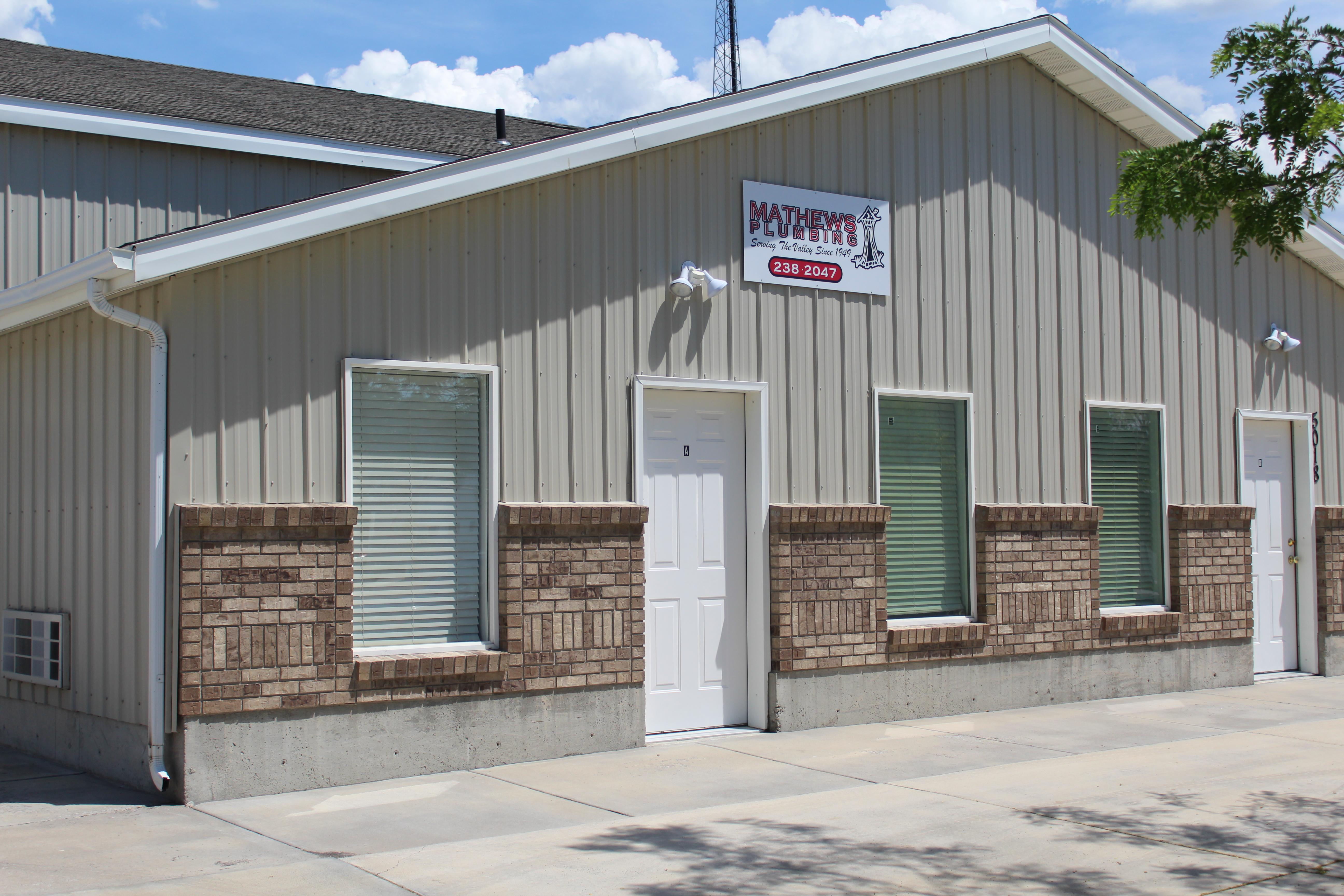 Mathew's Plumbing Idaho Falls plumber Office
