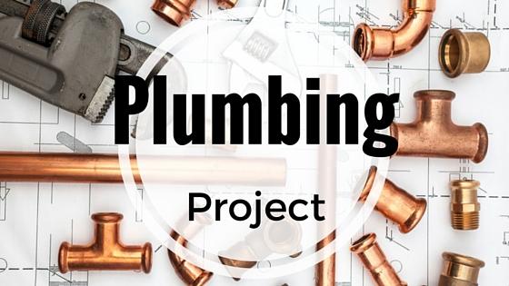 Plumbing project header by Mathews Plumbing