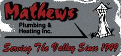 Grey logo for Mathew's Plumbing, plumber idaho falls id