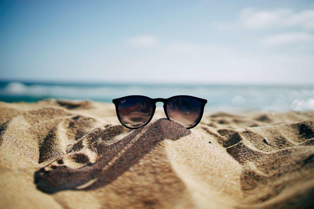 Sunglasses on beach, get ready for summer with HVAC Idaho falls