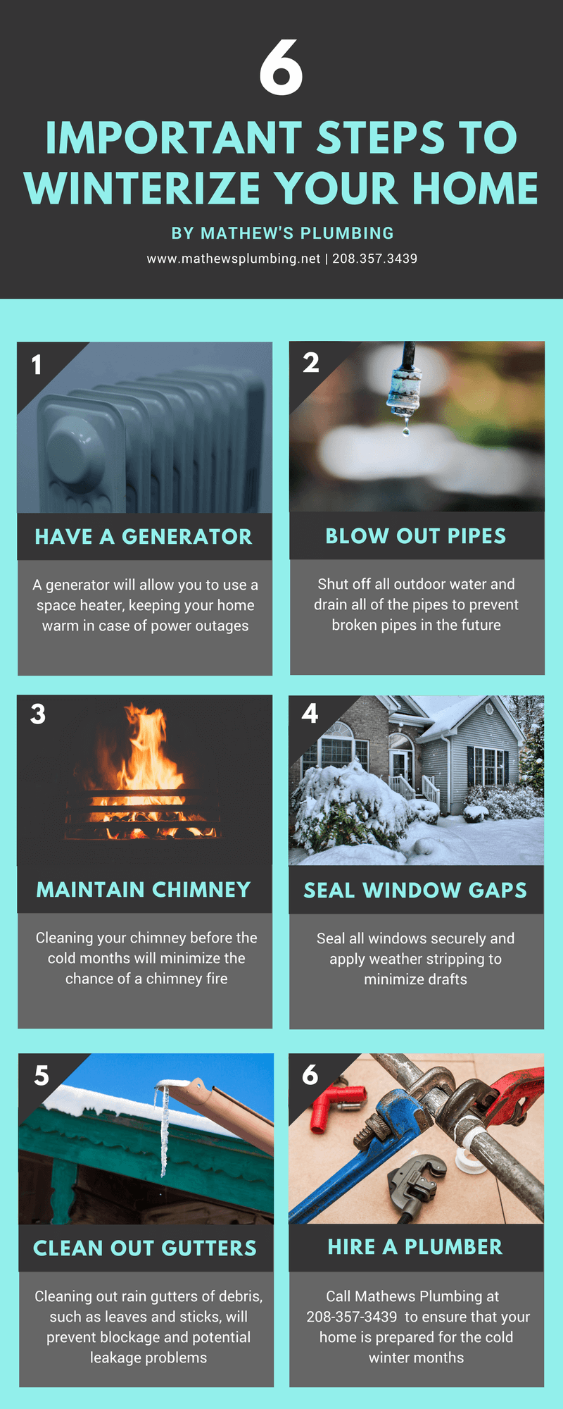 Winterize Your Home With These 6 Steps from Mathew's Plumbing