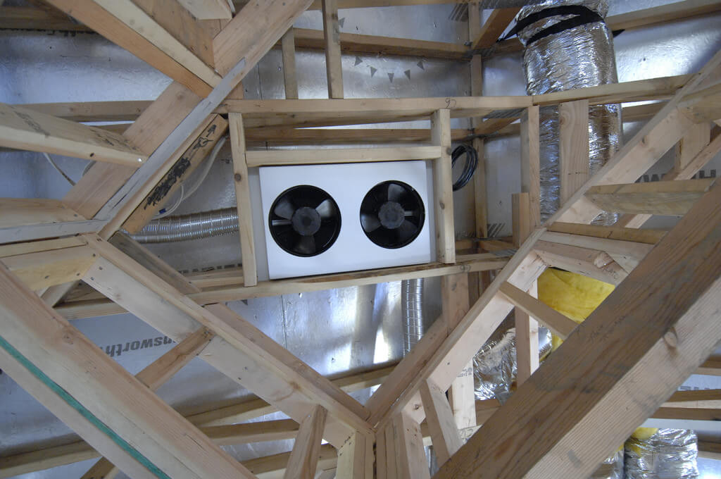Whole house fan in the attic can save money in the summer and cool your home