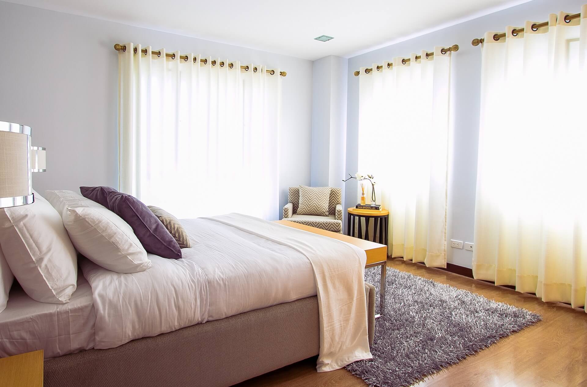 Curtains and shutters can shade heat coming in from windows